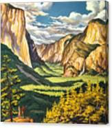 Yosemite Park Vintage Poster Canvas Print