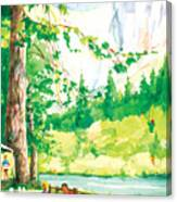 Yosemite Picnic Canvas Print