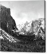 Yosemite Valley Not Clearing Winter Storm Canvas Print