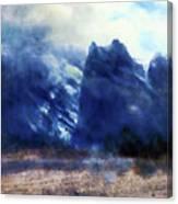 Yosemite Valley Twin Peaks Canvas Print