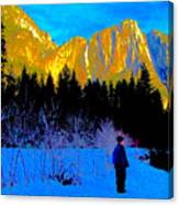 Yosemite Valley Winter Walk Canvas Print
