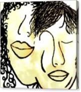 You And Me Sepia Tones Canvas Print