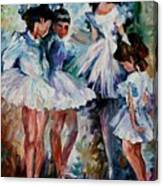 Young Ballerinas Canvas Print