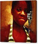 Young Black Female Teen 1 Canvas Print