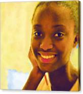 Young Black Female Teen 3 Canvas Print