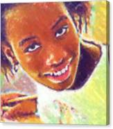 Young Black Female Teen 5 Canvas Print