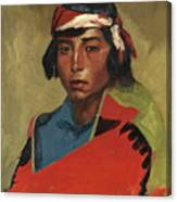 Young Buck Of The Tesuque Pueblo Canvas Print