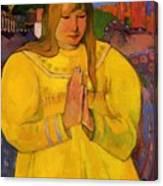 Young Christian Girl 1894 Canvas Print