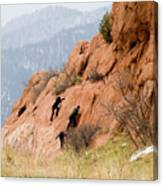 Young Climber In Red Rock Canyon Canvas Print