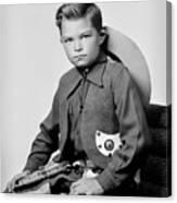 Young Cowboy Sitting Canvas Print