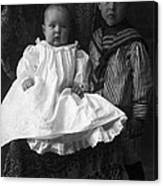 Young Ernest Lawrence And Brother, 1904 Canvas Print
