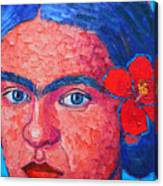 Young Frida Kahlo Canvas Print