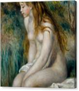 Young Girl Bathing, 1892 Canvas Print