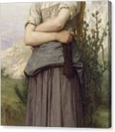 Young Girl, By William-adolphe Bouguereau Canvas Print