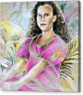Young Girl From Tahiti Canvas Print