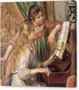 Young Girls At The Piano Canvas Print
