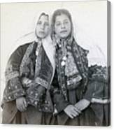 Young Girls Of Bethlehem Year 1896 Canvas Print