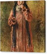 Young Gypsy By Konstantin Makovsky Canvas Print