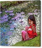 Young Khmer Girl - Cambodia Canvas Print