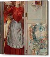 Young Man On A Door French Room, Emilio Canvas Print