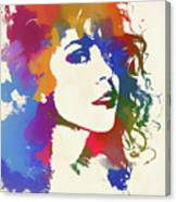 Young Mariah Carey Watercolor Canvas Print