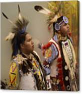 Pow Wow Young Men Canvas Print