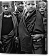 Young Monks II Bw Canvas Print