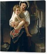 Young Mother Gazing At Her Child Canvas Print