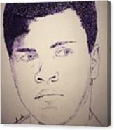 Young Muhammad Ali Canvas Print