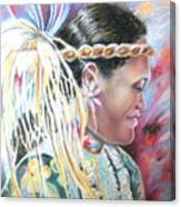 Young Polynesian Mama Canvas Print