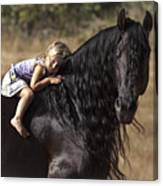 Young Rider Canvas Print