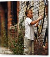 Young Vandal Canvas Print