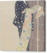 Young Woman In A Summer Kimono, 1920 Canvas Print