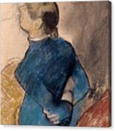 Young Woman In Blue Canvas Print