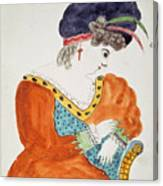 Young Woman Wearing A Turban  Canvas Print