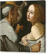 Young Woman With A Fortune Teller Canvas Print