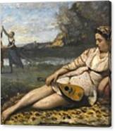 Young Women Of Sparta By Jean-baptiste-camille Corot, 1868-1870. Canvas Print