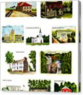 Youngstown Landmarks Montage 2 Canvas Print