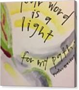 Your Word Is A Light Canvas Print