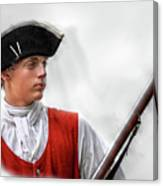 Youthful Soldier With Musket Canvas Print