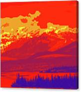 Yukon Mountain Range 4 Canvas Print