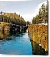 Yukon River And Miles Canyon - Whitehorse Canvas Print