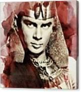 Yul Brynner, Vintage Actor Canvas Print