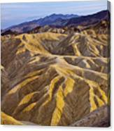 Zabriskie Badlands Canvas Print