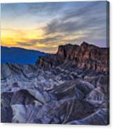 Zabriskie Point Sunset Canvas Print