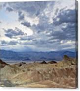 Zabriskie Point Twilight Death Valley Canvas Print