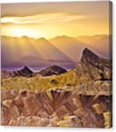 Zabriskie Sunset Canvas Print