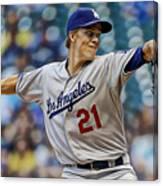 Zack Greinke Los Angeles Dodgers Canvas Print