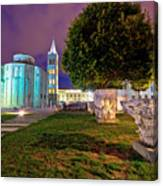 Zadar Historic Square Evening View Canvas Print