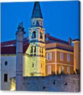 Zadar Landmarks Evening Vertical View Canvas Print